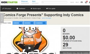 Help us out on Kickstarter – Comics Forge Presents