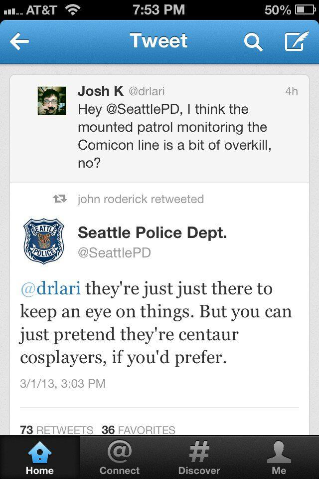 Emerald City Comic Con Seattle Police Department Humor