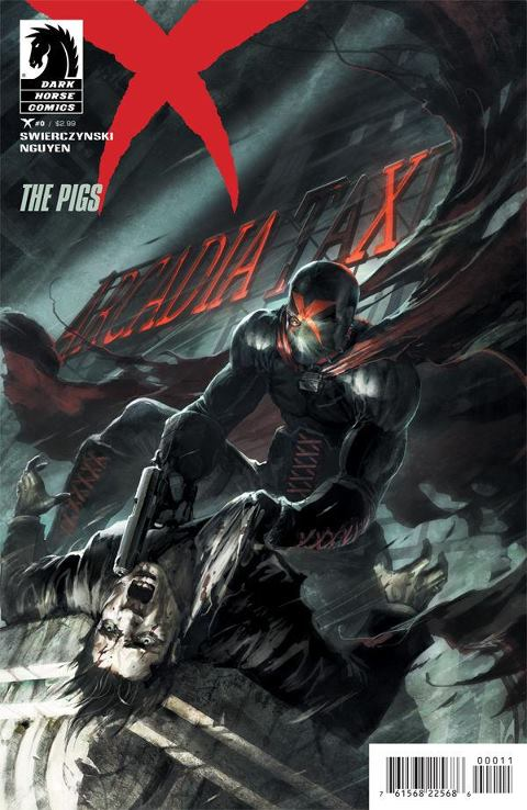 X comic book cover art